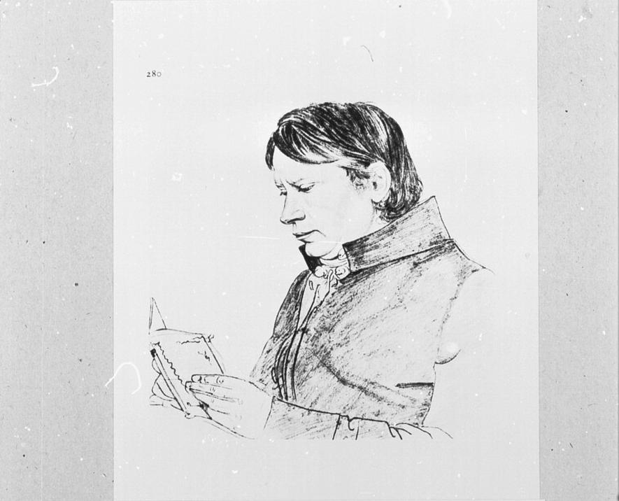 Franz Christian Gau, Zeichnung, Ort und Datum unbekannt. © Rheinisches Bildarchiv Köln rba_mf136422