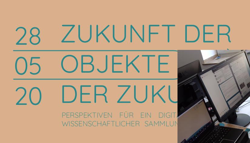 Plakat Symposium mit Foto von mehreren Rechnern.